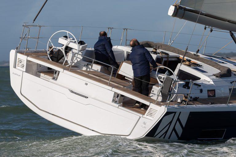 Première navigation du nouveau Dufour 470 du chantier Dufour Yachts, La Rochelle le 22 janvier 2021 photo © Jean-Marie LIOT / Dufour Yachts